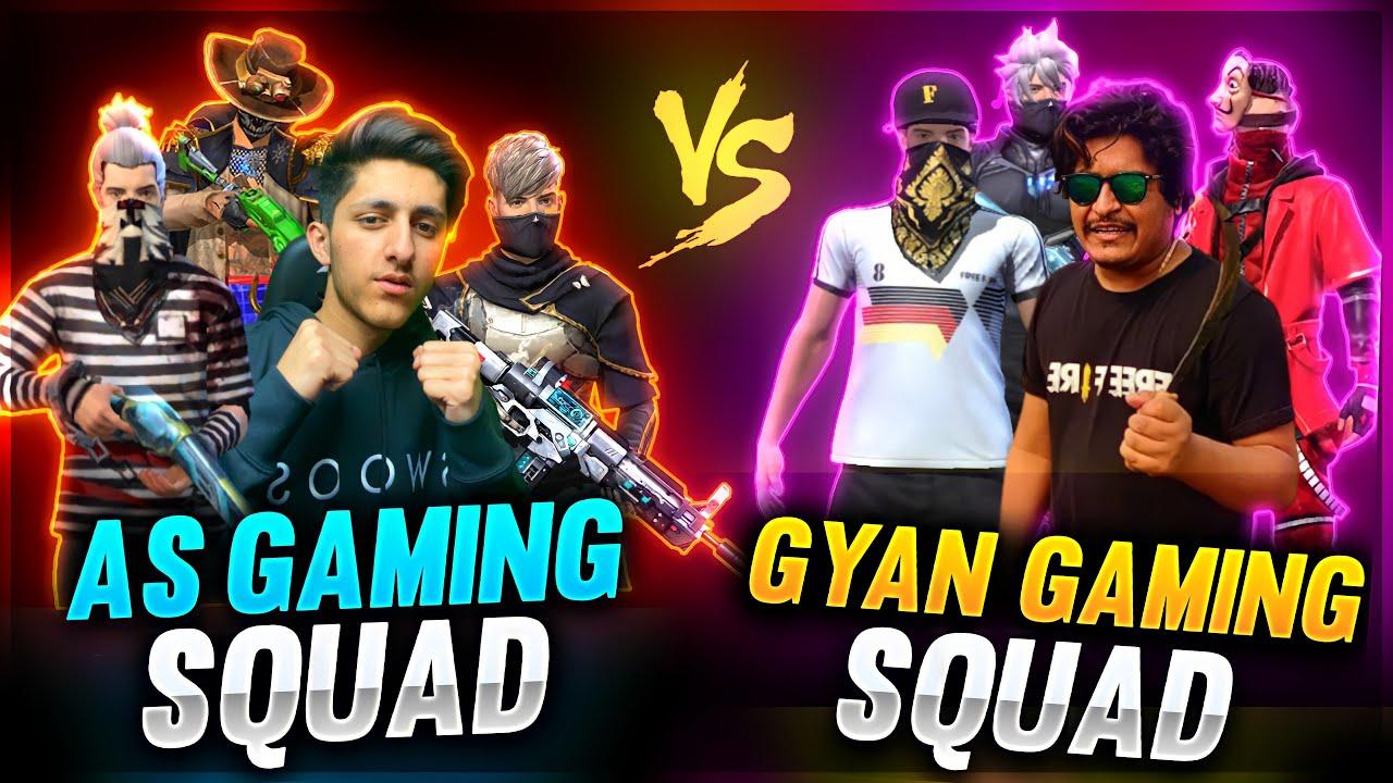 Gyan Gaming Squad Vs A_s Gaming Squad Chaddi Challenge 😂😂 Friendly Match - Garena Free Fire