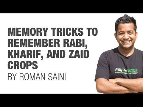 Tricks to remember Rabi, Kharif, Zaid crops (UPSC/IAS, SSC CGL, CHSL, Railways, RBI, Bank PO)