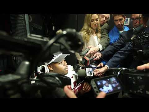 Damien Harris answers questions as Tua Tagovailoa, says he deserves Heisman