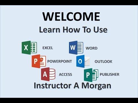Professor Adam Morgan - Microsoft Office Instructor - MOS Tutorials - MS 2016 365 Tutorial - Word