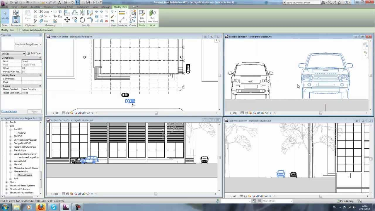 Architecture Drawing Cars revit cars - youtube