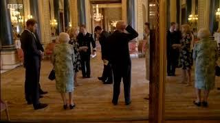 Prince Charles sneaks up on Princess Anne