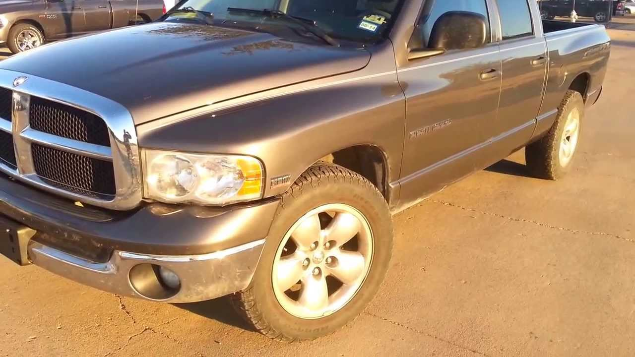 2004 Dodge Ram 1500 Hemi >> $7,995 - For Sale - 2004 Dodge Ram SLT 1500 Quad Cab Truck 5.7L Hemi - YouTube