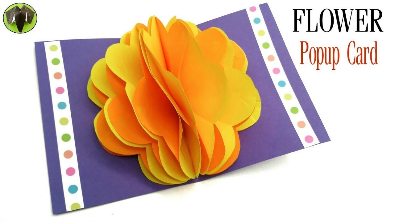 Flower Popup Card Diy Scrapbook Tutorial By Paper Folds 831