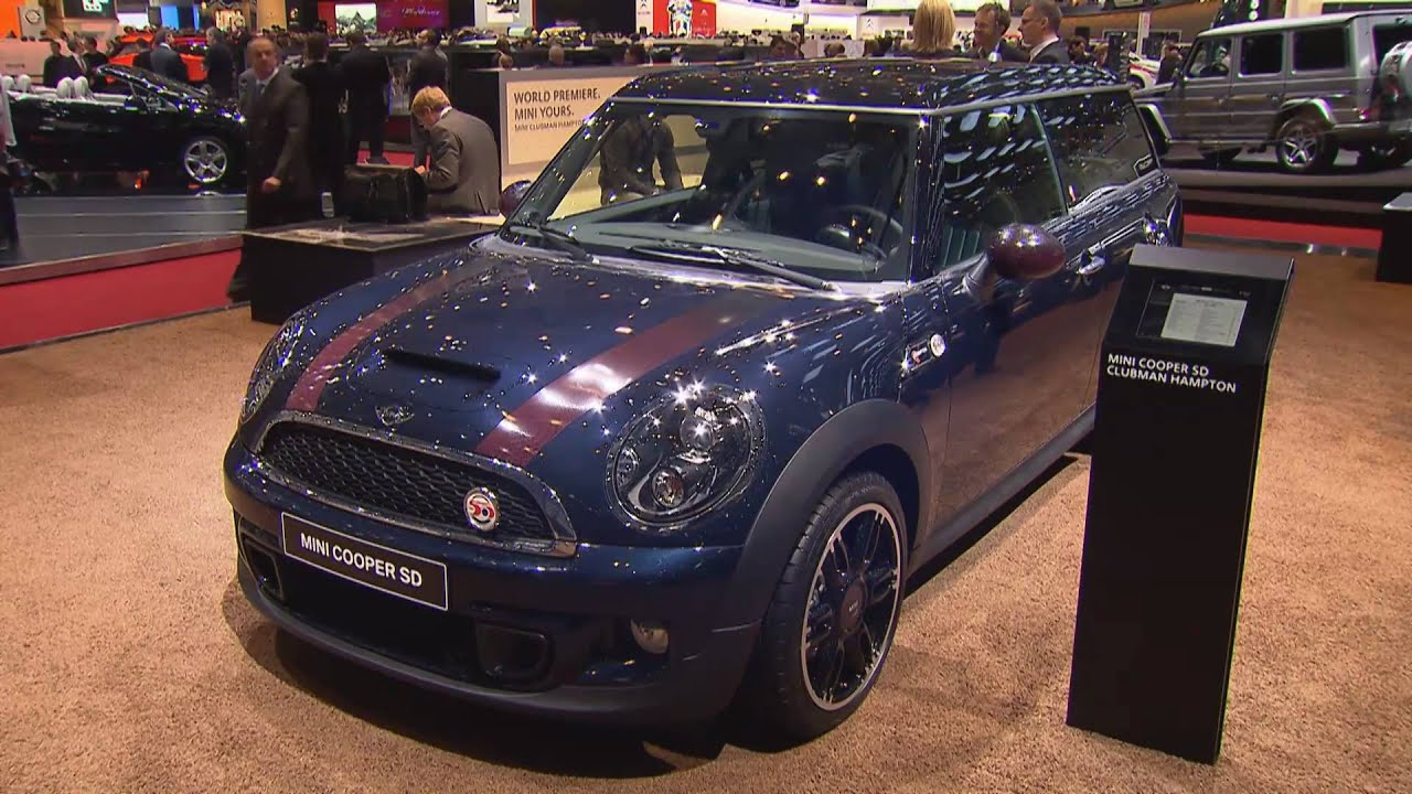 2017 Mini Cooper Sd And Rocketman At Geneva