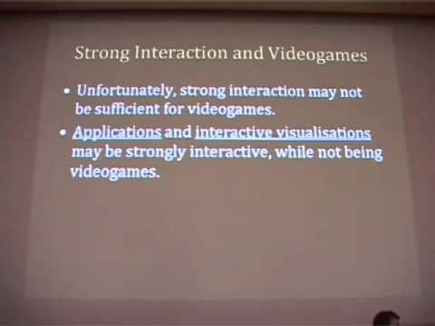 PCG2009 - Grant Tavinor - The Disjunctive Definition of Video Games  Revisited