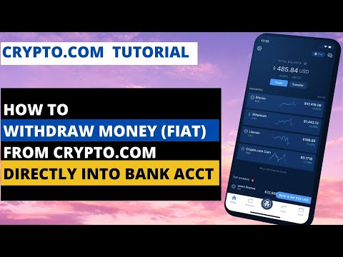 How To Withdraw Money (Fiat) From Crypto.com App Directly Into Your Bank Account