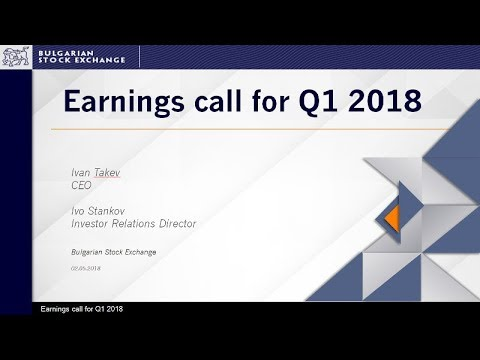 BSE-Sofia Earnings call for the first quarter of 2018