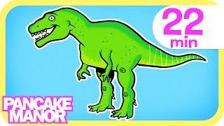 Dinsosaur Bones Song + More Songs for Kids | Pancake Manor