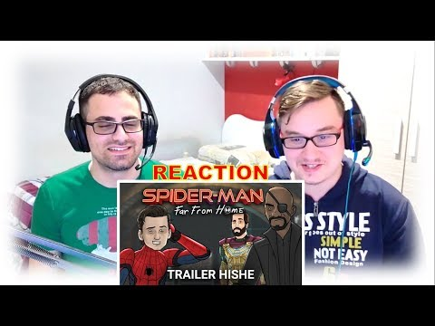 HISHE SPIDER-MAN FAR FROM HOME TRAILER REACTION!! 😆😂