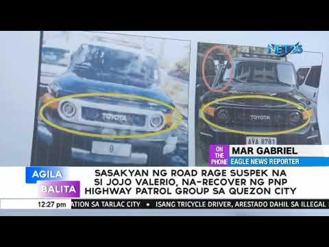 Sasakyan ni Jojo Valerio, narecover na ng PNP Highway Patrol Group sa Quezon City