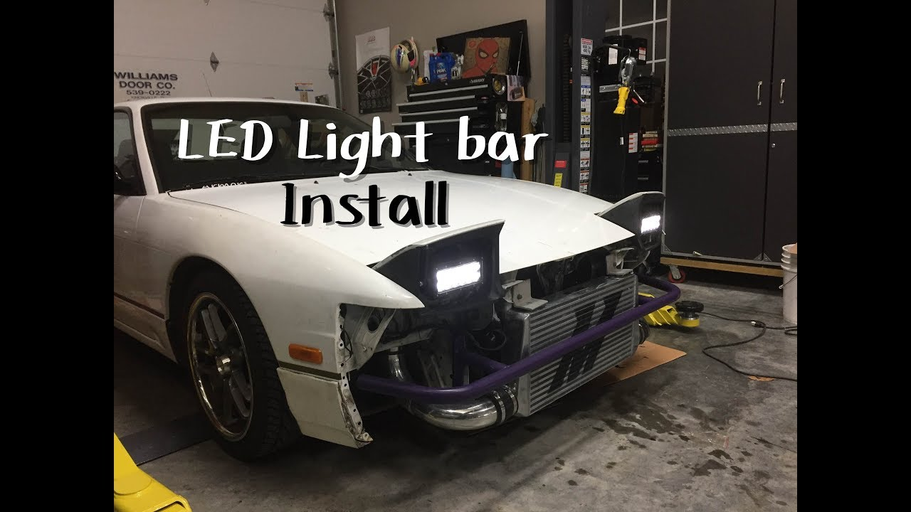 S13 LED Light Bar Install *ナイトドリフト*