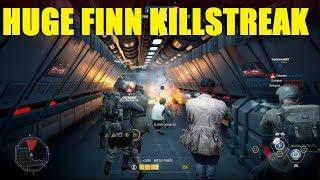 Star Wars Battlefront 2 - Huge Finn killstreak! Aimbot destroys EVERYONE!
