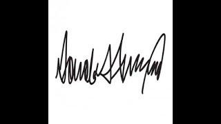 تحليل توقيع دونالد ترامب من خلال علم الجرافولوجي