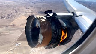 Plane Engine Explodes Mid-Flight