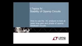 LTspice IV:Stability of Opamp Circuits