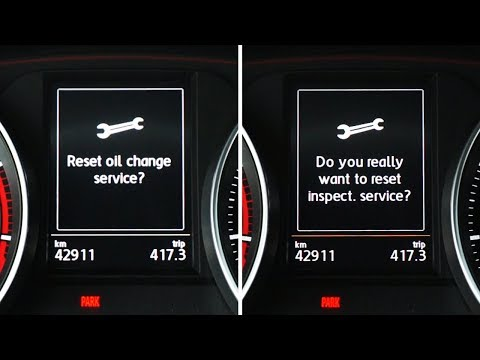 Volkswagen Golf MK7 reset inspection & oil service reminders