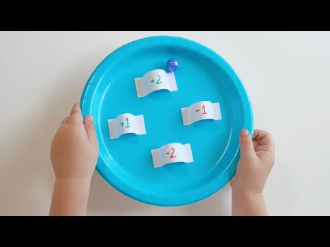 DIY Simple Number Game With Paper Plates