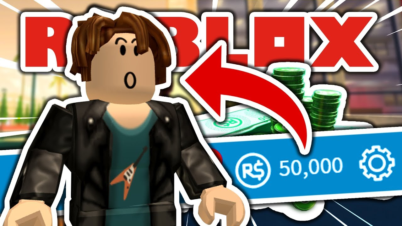 Giving A Noob 50 000 Robux He Went Mad Youtube