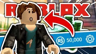 Giving A Noob 50,000 Robux!! (He Went Mad!)