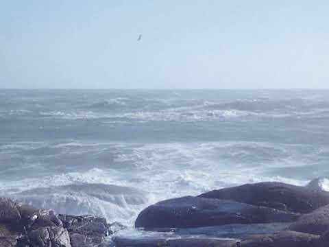 Remnants of Ocean Storm at Biddeford Pool, Maine