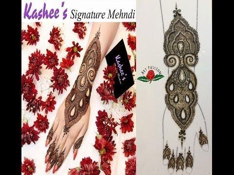 Kashee inspired Pakistani style mehendi henna design  : Hindi version