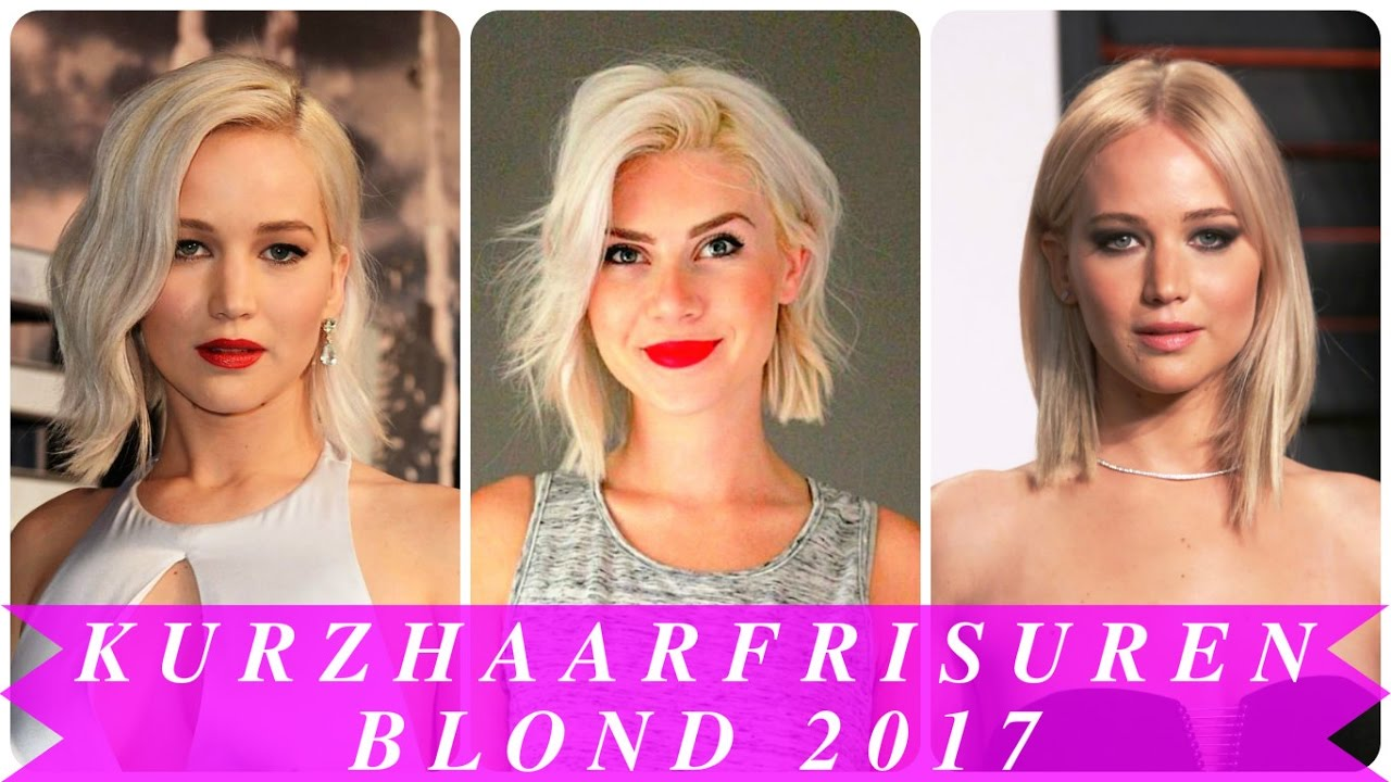 Kurzhaarfrisuren Blond 2017