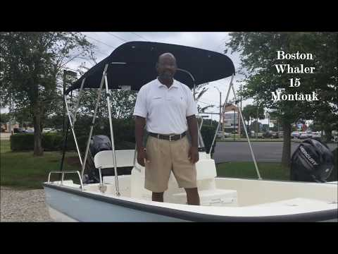 2017 Boston Whaler 150 Montauk Boat For Sale at Marine Max Gulf Shores