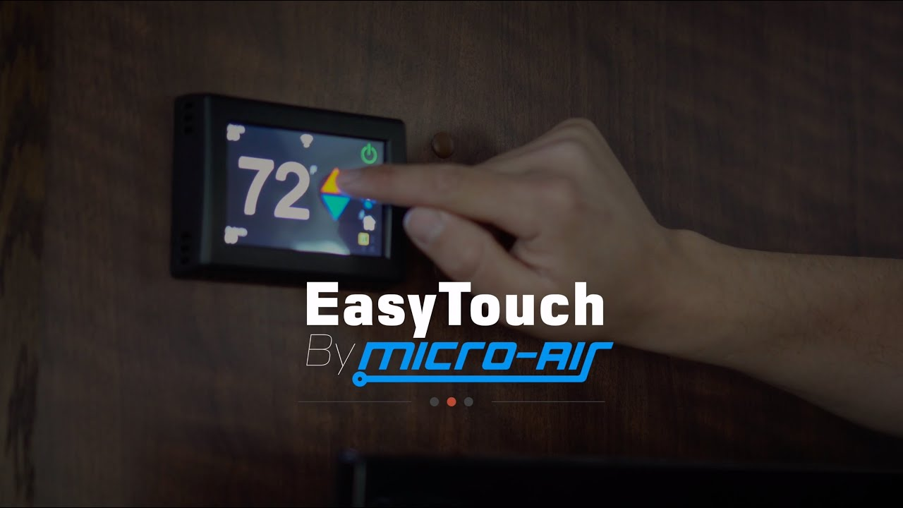 Finally a Smart Thermostat with WiFi for the RV:  EasyTouch RV™ from Micro-Air