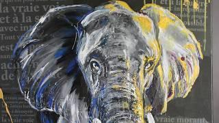 Elephant #1 peinture Acrylique - time laps