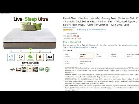 discounted!!-|-live-&-sleep-ultra-mattress---gel-memory-foam-mattress
