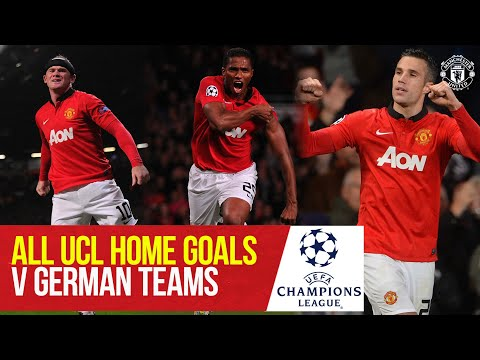 Every UCL Goal v German Opponents at Old Trafford | Manchester United v RB Leipzig