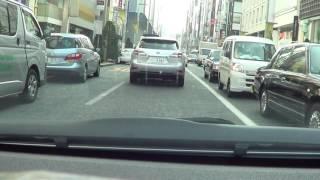 アクアで金曜日の夕方の銀座をドライブ[車載動画]