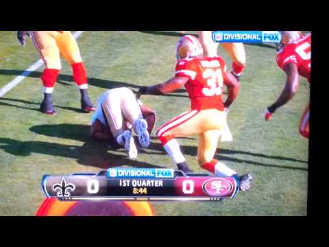 Pierre Thomas gets rocked by Donte Whitner
