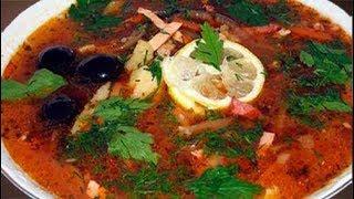 Суп солянка с колбасой классический рецепт