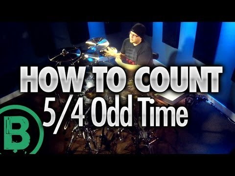 How To Count 5/4 Odd Time Signature - Beginner Drum Lessons