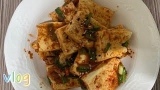 [요리 브이로그] 김치만두 볶음밥, 호두과자, 두부조림