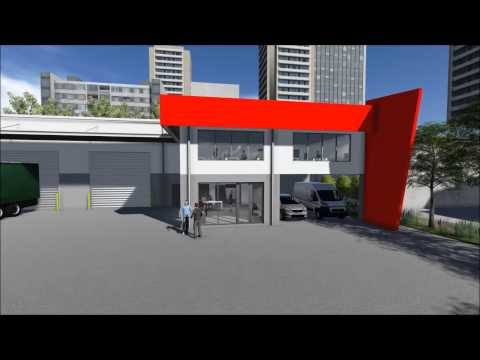 Warehouse & Office Building -- Seventeen Mile Rocks, Brisbane 3D Flyover