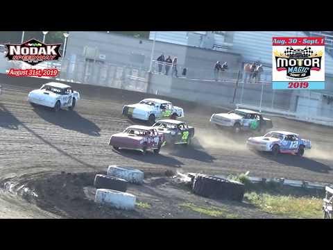 Nodak Speedway IMCA Stock Car Heats (Motor Magic Night #2) (8/31/19)