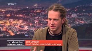 Barfuß-Läufer Lars Dewald zu Gast in der Landesschau