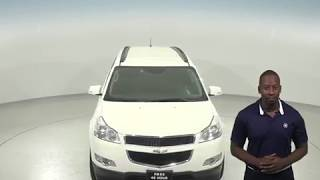 C97375RO - Used, 2012 Chevrolet Traverse, White, SUV, Test Drive, Review, For Sale -