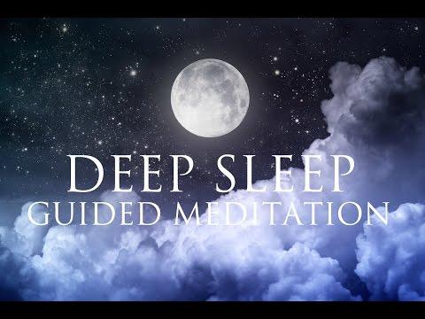 Deep Sleep Guided Meditation ➤ Relaxation Music - Delta Binaural Beat - Dissolve Overthinking