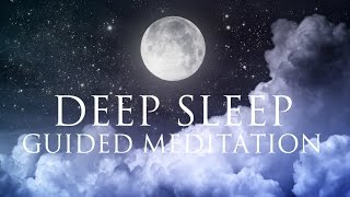 Deep Sleep Guided Meditation ➤ Relaxation Music - Delta Binaural Beat - Dissolve Overthinking