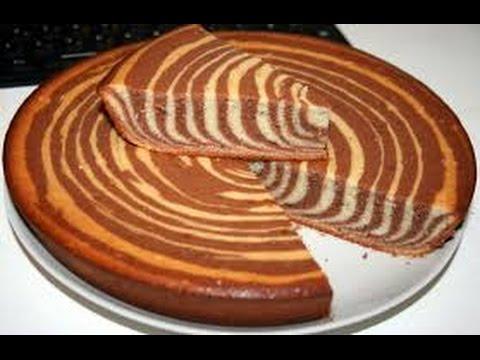 Как приготовить пирог зебра. Zebra Kek Tarifi. - YouTube