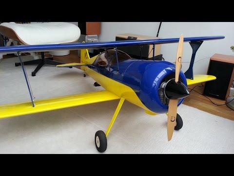 RC Pitts Model 12 - první let