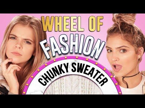 CHUNKY SWEATER CHALLENGE?! Wheel of Fashion w/ Griffin Arnlund & Carrington Durham
