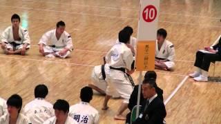 第51回少林寺拳法関東学生大会 男子二段以上の部 第二位 早稲田大学 山...