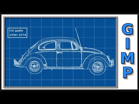Gimp: How To Make a Blueprint