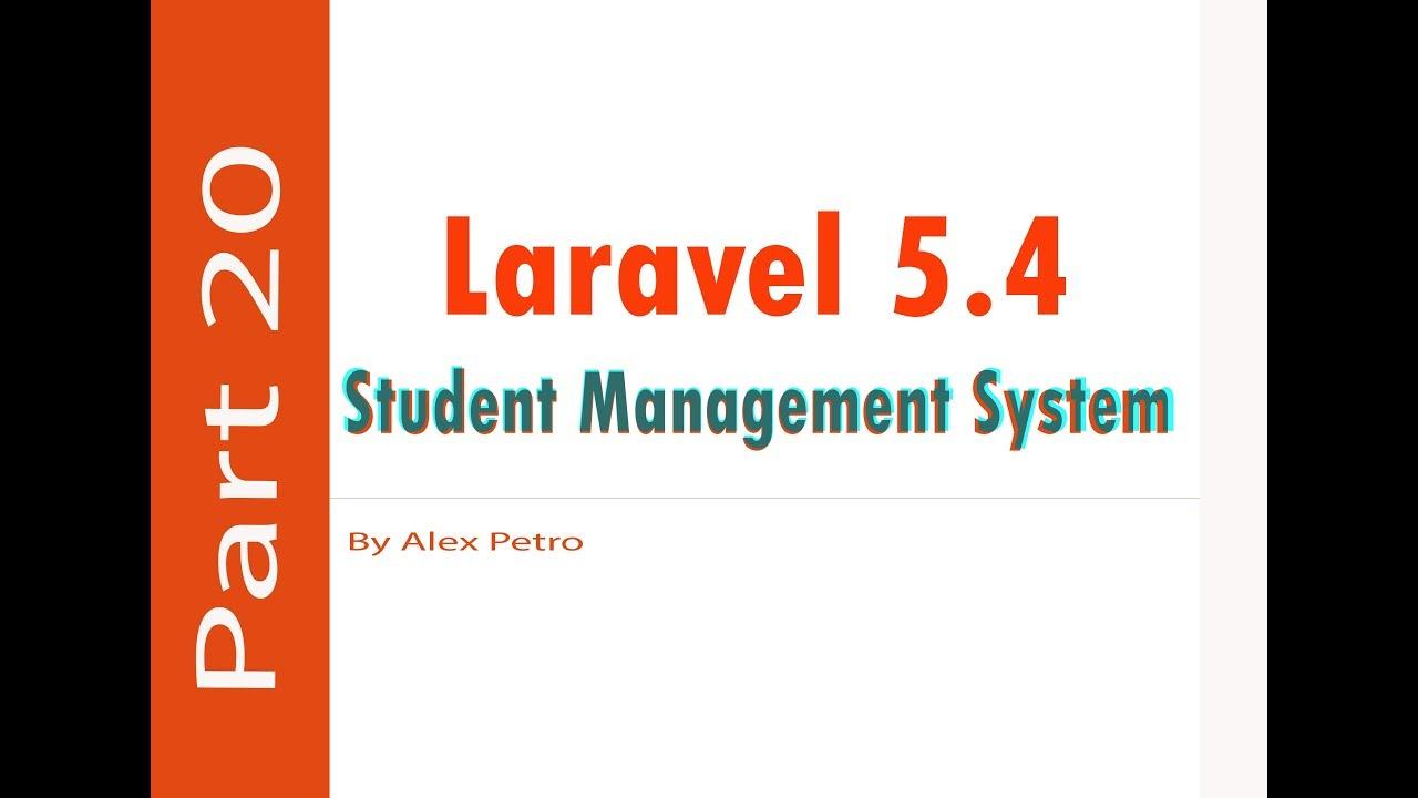 Laravel 5 4 Student Management System - school fee part 20 - admin panel  laravel part 20