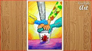 Fight Corona Virus Drawing || Covid 19 poster making - corona warriors (easy) step by step